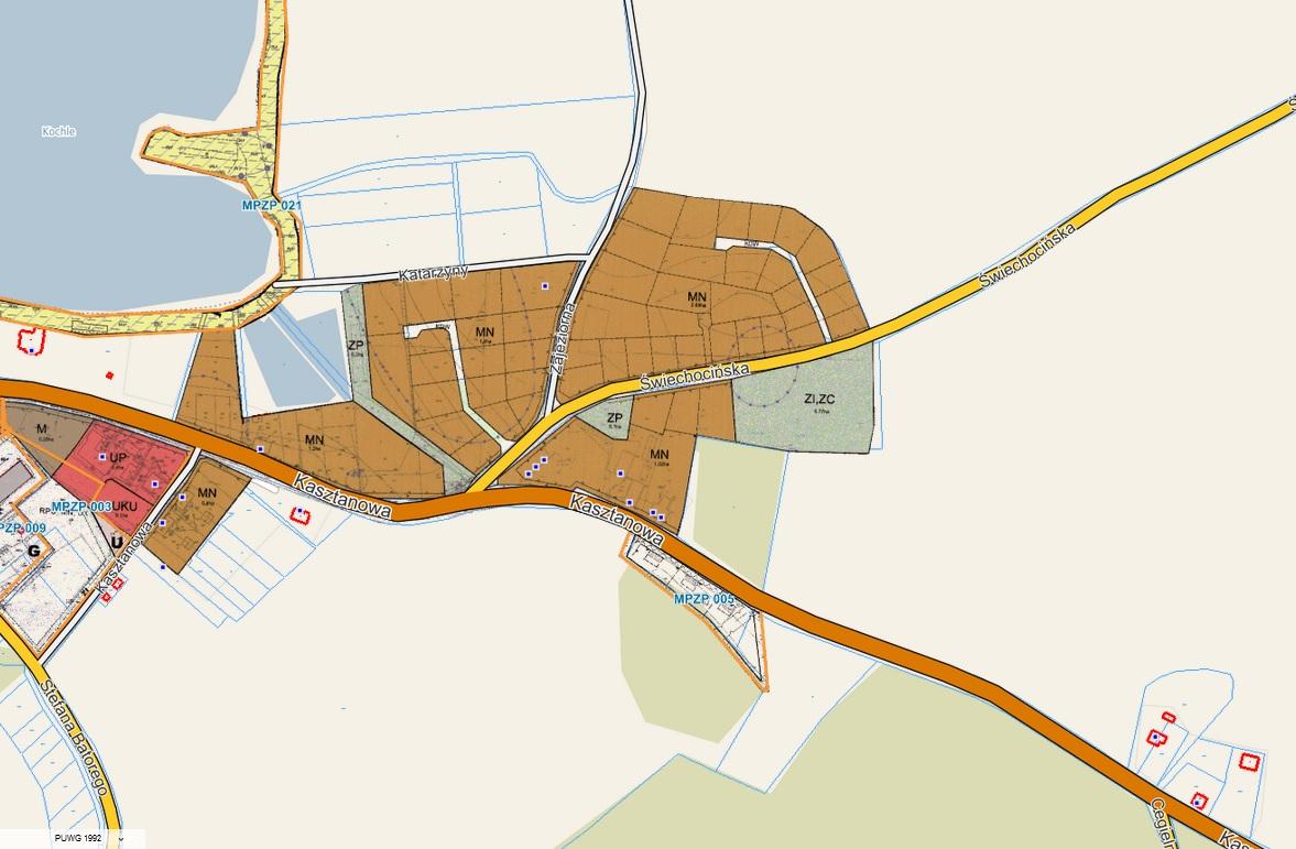 Obwieszczenie Wójta Gminy Pszczew o wyłożeniu projektu miejscowego planu zagospodarowania przestrzennego gminy Pszczew, w obrębie Pszczew